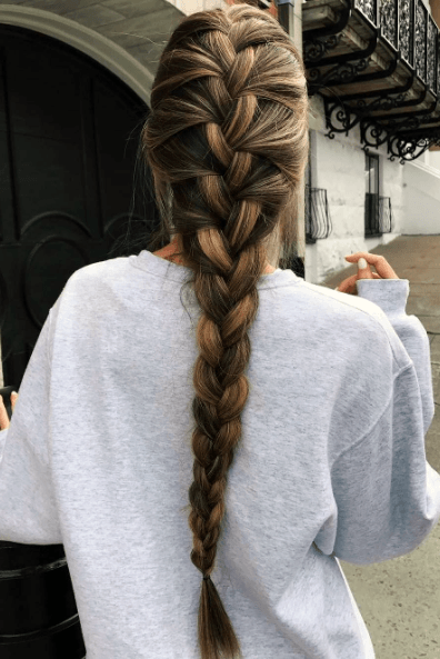 Everyday French Braid Hairstyle Women