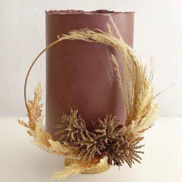 Exotic Floral Chocolate Wedding Cake