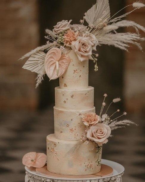 Exotic Flowwers On Beautiful Wedding Cakes