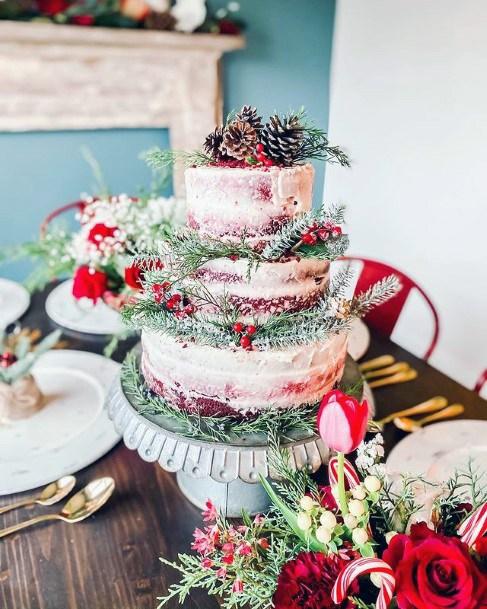 Exotic Red Velvet Wedding Cake