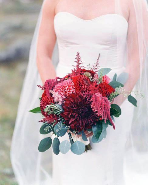 Exotic Red Wedding Flowers