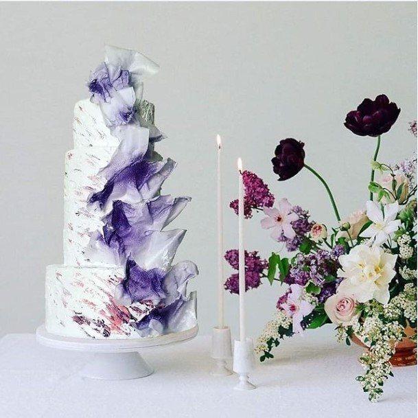 Exotic Wedding Cake Purple