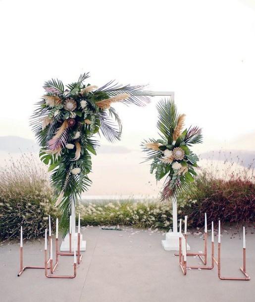 Exotic Wedding Flowers Hawaiian Arch