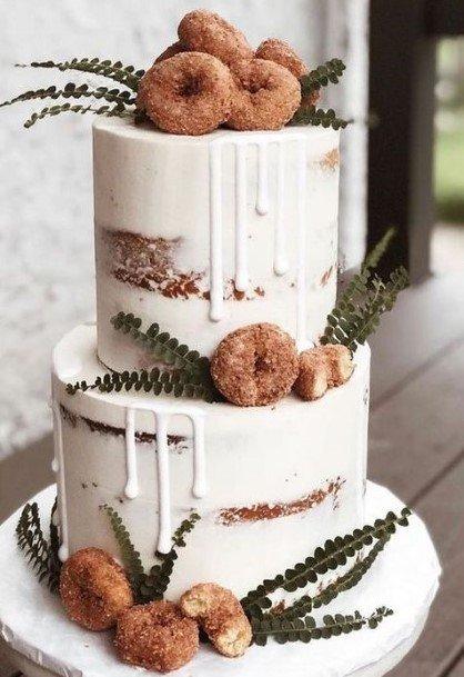 Exotic White Donut Wedding Cake