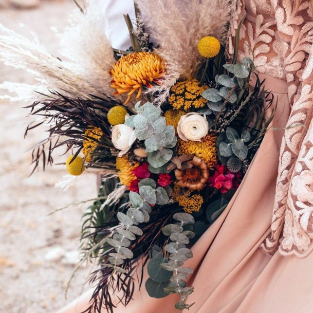 Exotic Yellow Wedding Flowers