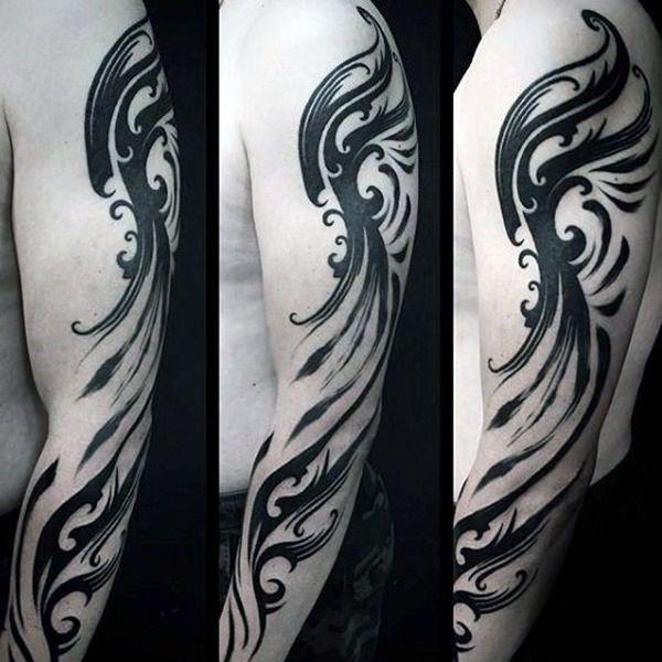 Explosive Tribal Tattoo For Women On Legs