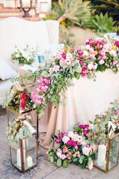 Expressive Pink Flowers Wedding
