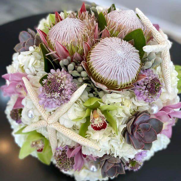 Exquisite Beach Wedding Flowers