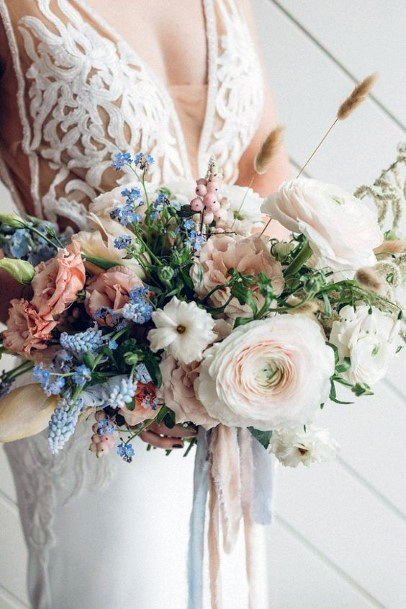 Exquisite Blush Wedding Flowers Bouquet