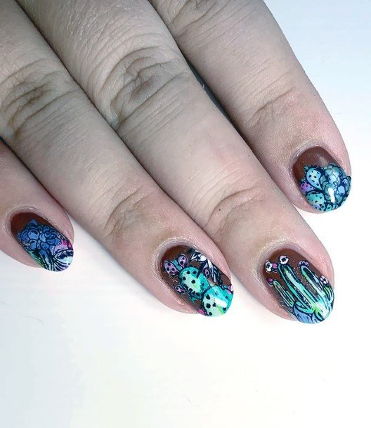 Eye Catching Cactus Nails Women