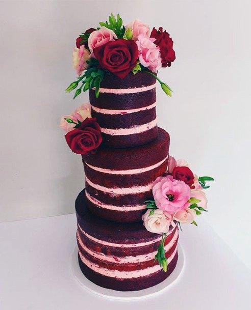 Eye Catching Red Velvet Wedding Cake