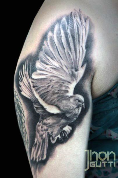 Fab Dark Dove Tattoo Women