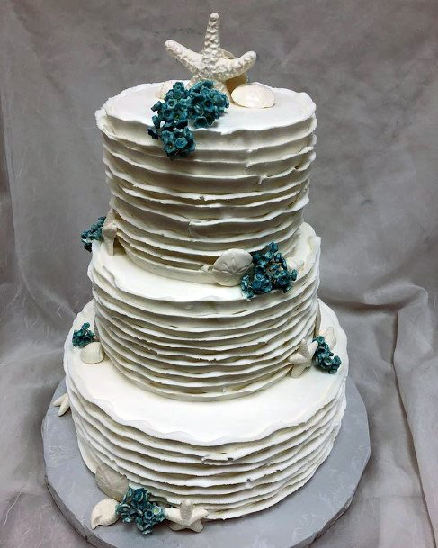 Fabulous Beach Wedding Cake Women