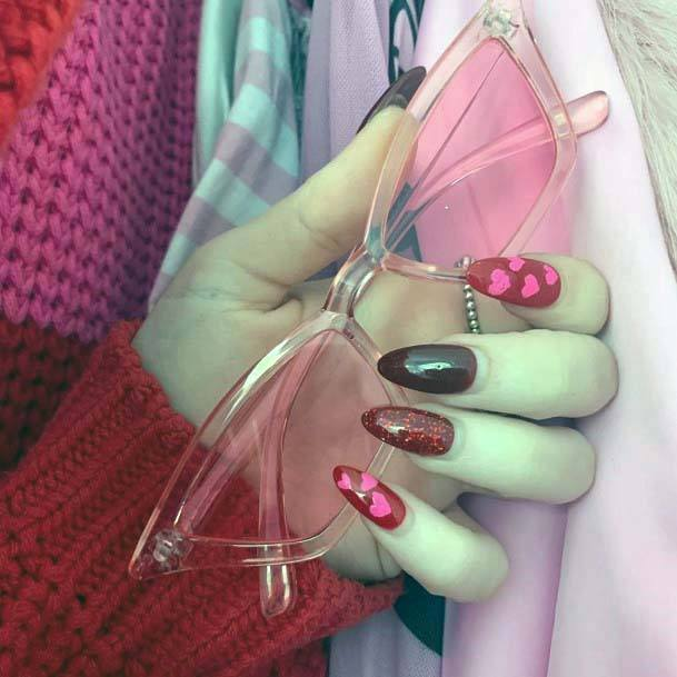 Fabulous Red And Pink Nails For Women