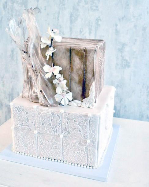 Fabulous Square Wedding Cake