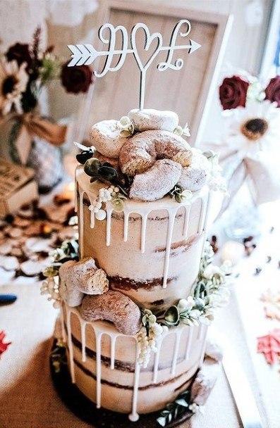 Fabulous Wedding Donut Cake