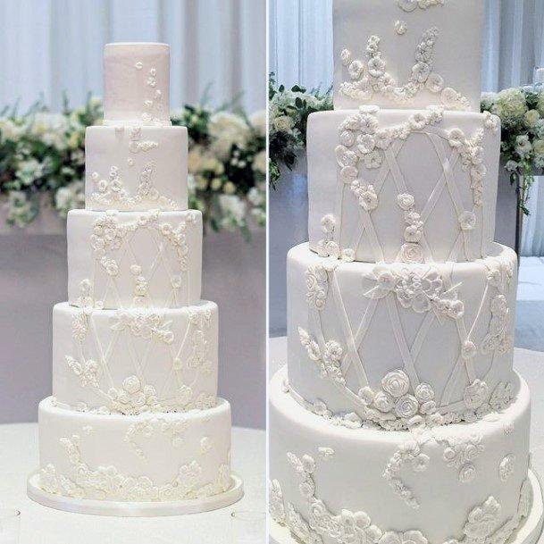 Fairtytale White Red Velvet Wedding Cake