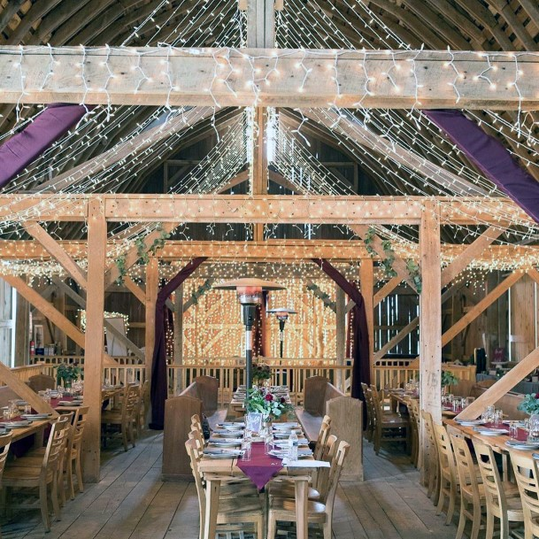 Fairy Tale Barn With Sparkling Lights Fall Wedding Ideas