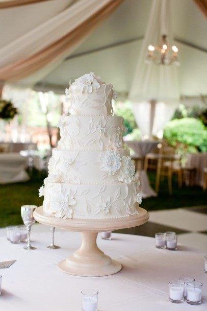 Fairy White Wedding Cake