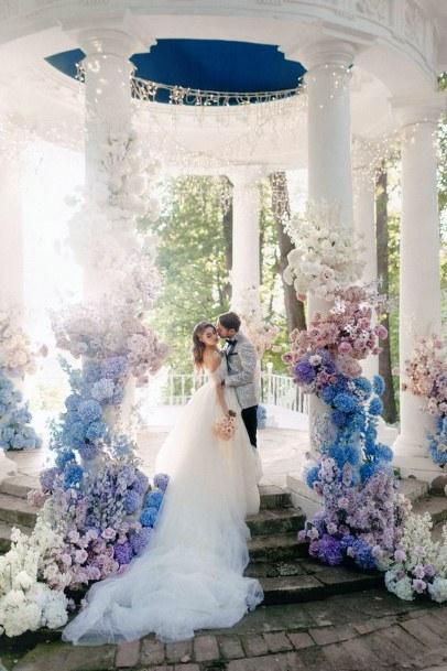 Fairytale Hydrangea Flowers Wedding Art