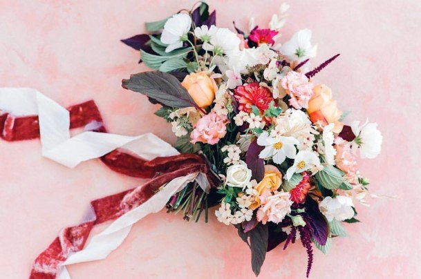 Fall Wedding Ideas Bouquet With Oranges And Greenery Floral Inspiration