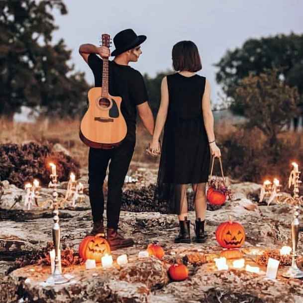 Fall Wedding Ideas Halloween Inspired Costumes And Carved Pumpkins