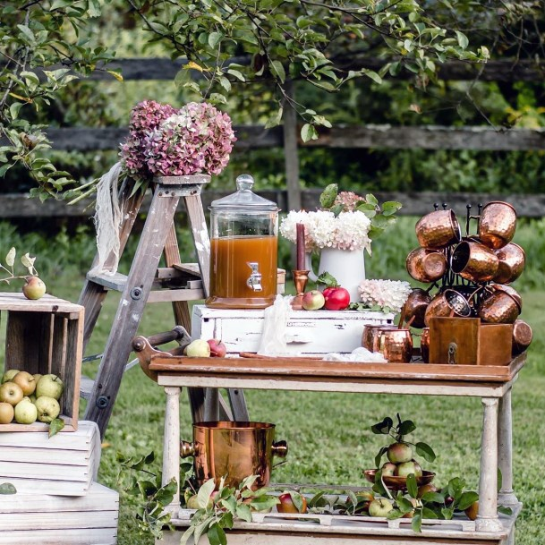 Fall Wedding Ideas Hot Apple Cider Station Inspiration