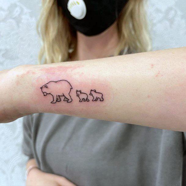 Family Of Bears Tattoo For Women