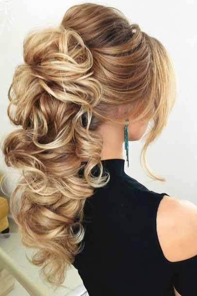 Fancy Silver Cascading Coiled Hair For Women