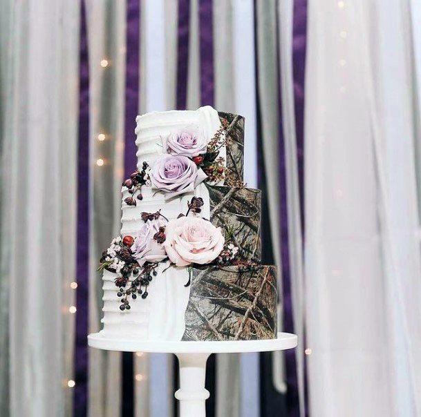 Fantastic Camo Wedding Cakes