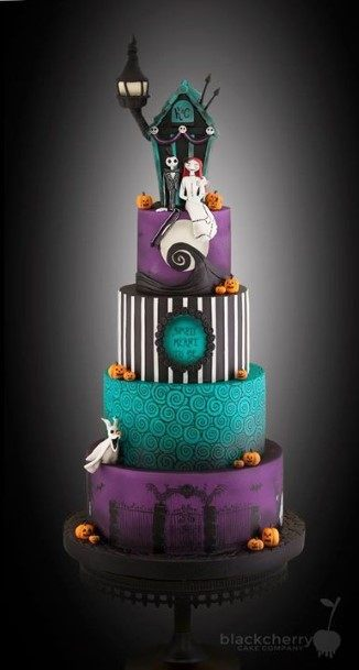 Fantastic Halloween Wedding Cakes
