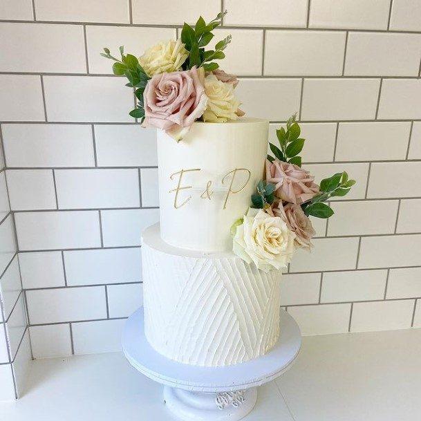 Fantastic White Buttercream Wedding Cake