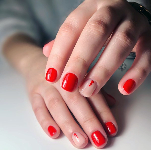 Fast Red Nail Color