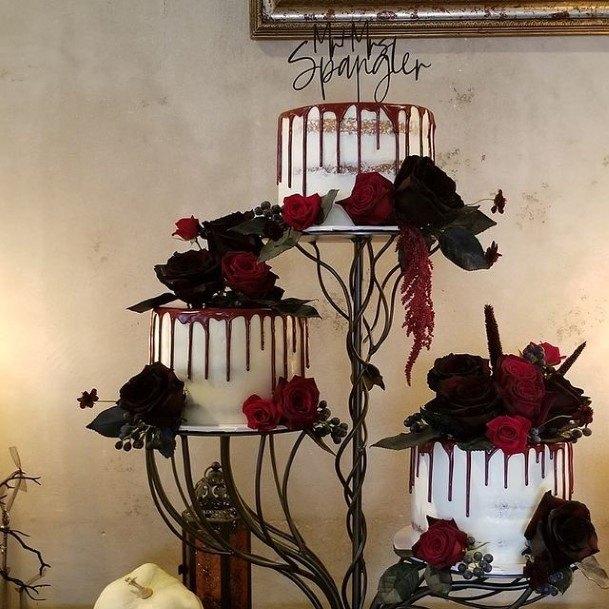 Fearful Halloween Wedding Cakes