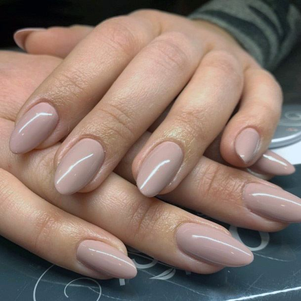 Female Almond Shape Nude Nails For Women