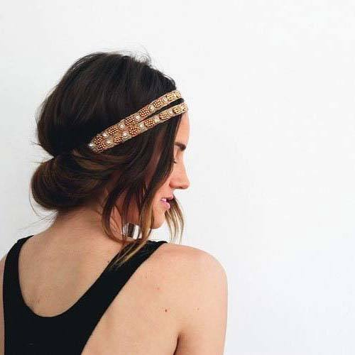 Female With Hair Twisted Into Headband