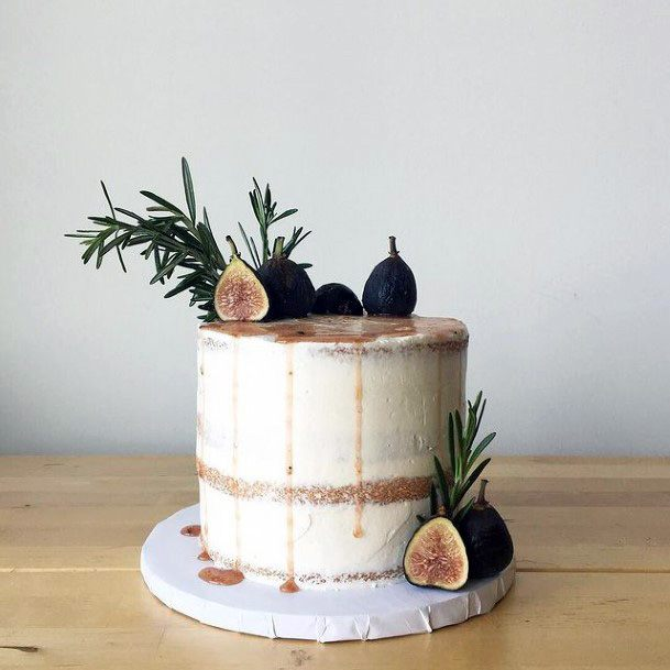 Fig Fruits Fall Wedding Cake For Women