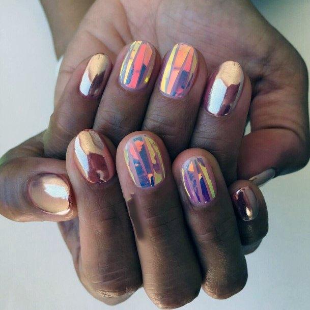 Fire Opal Glass Nails For Women
