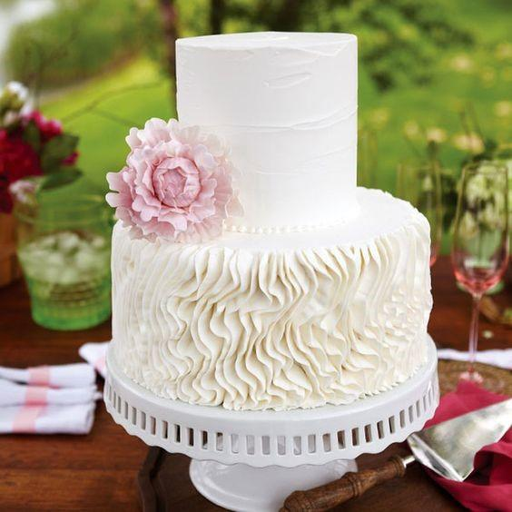 Flaky Icing Buttercream Wedding Cake