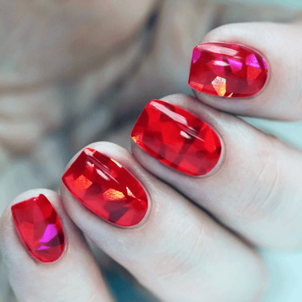 Flaming Glass Nails For Women