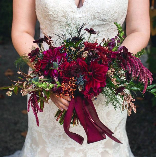 Flaming Red Wedding Flowers