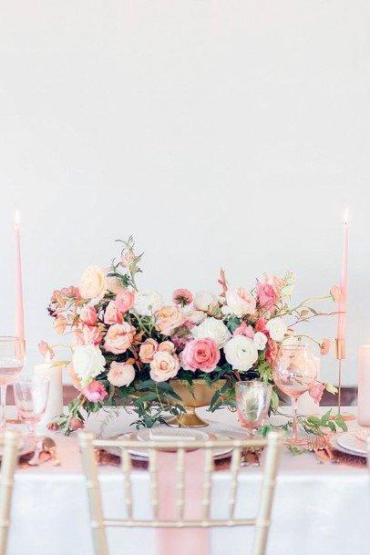 Flamingo Blush Flowers Wedding