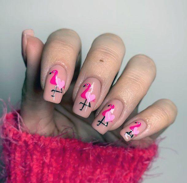 Flamingo Nail Sticker Art Women