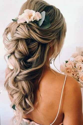 Floral Ash Colored Carousel Hairstyle Women