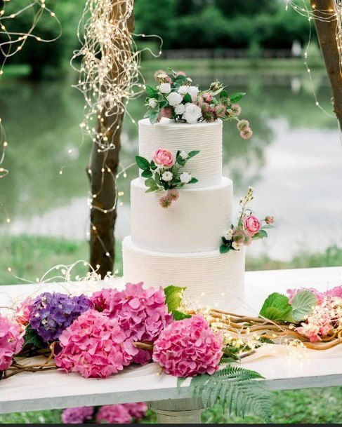 Floral Country Wedding Cake