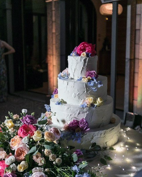 Floral Decor Elegant Wedding Cake Women