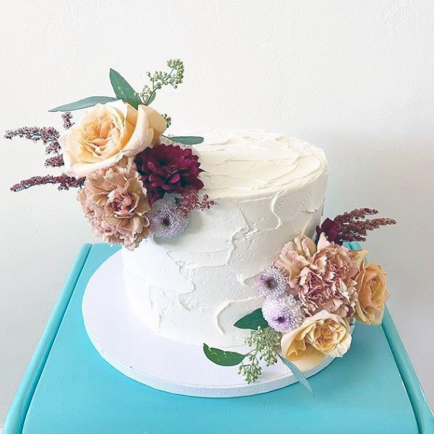 Floral Fall Wedding Cakes Women