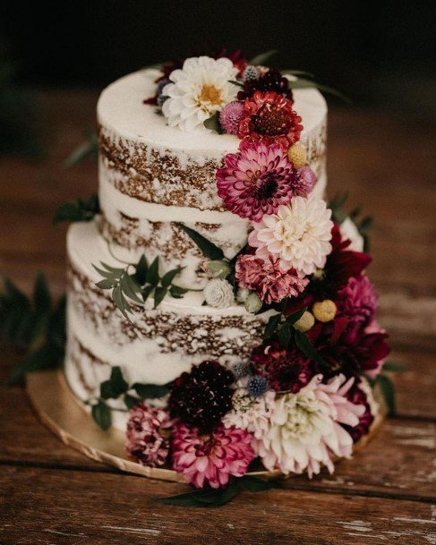Flower Decor Rustic Wedding Cake Toppers