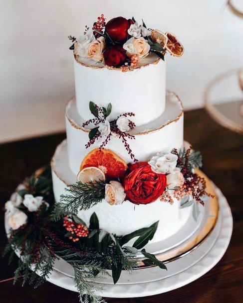 Flower Decorations On 3 Tier Wedding Cake Women