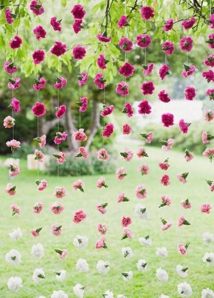 Flower Strings Backyard Wedding Ideas